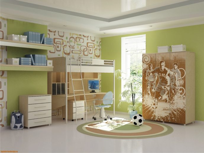 корпусная детская мебель для мальчика в детскую комнату