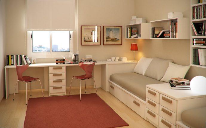 цветная мебель для мальчика в детскую спальню пример фото