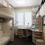 светлая детская мебель для мальчика в спальню дизайн