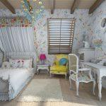красивая спальня в дизайне прованс для девочки картинка