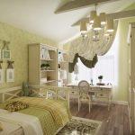шикарная спальня в дизайне прованс для принцессы картинка