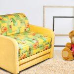 красивая кровать диван для детей в спальне пример фото