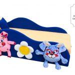 красивая диван кроватка для детей в спальне фото пример
