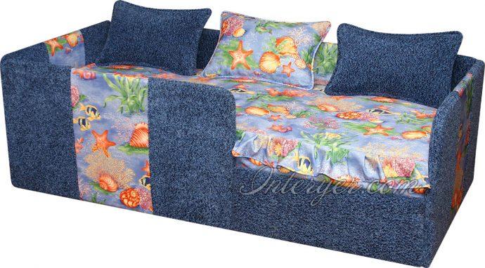 большая диван кровать для детей в спальне фото пример