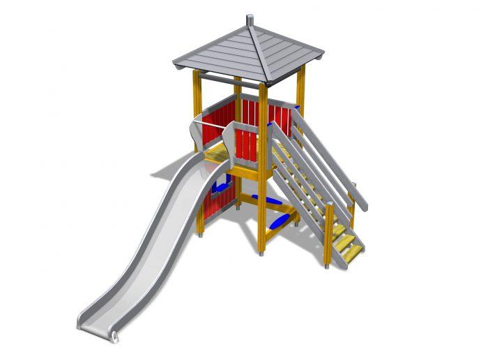 небольшая горка для детей вертикальная для развлечений