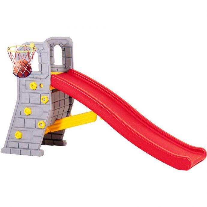 цветная детская горка для развлечений конструкция