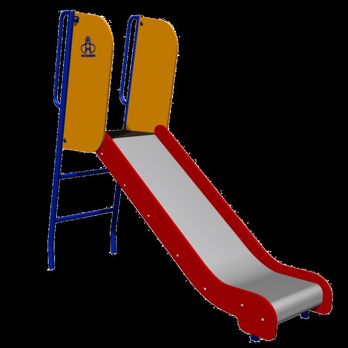 цветная детская горка для игр конструкция