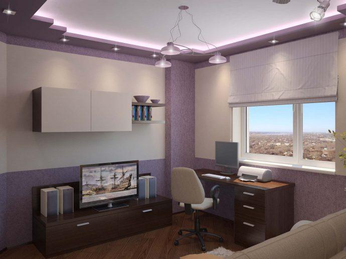 красивая детская комната для мальчика небольших размеров пример дизайна