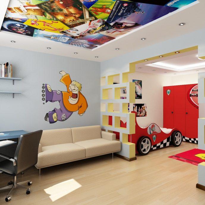красивая детская комната небольших размеров пример дизайна
