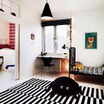 семейная детская комната в скандинавском дизайне