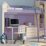красивая детская кровать чердак в дизайне комнаты