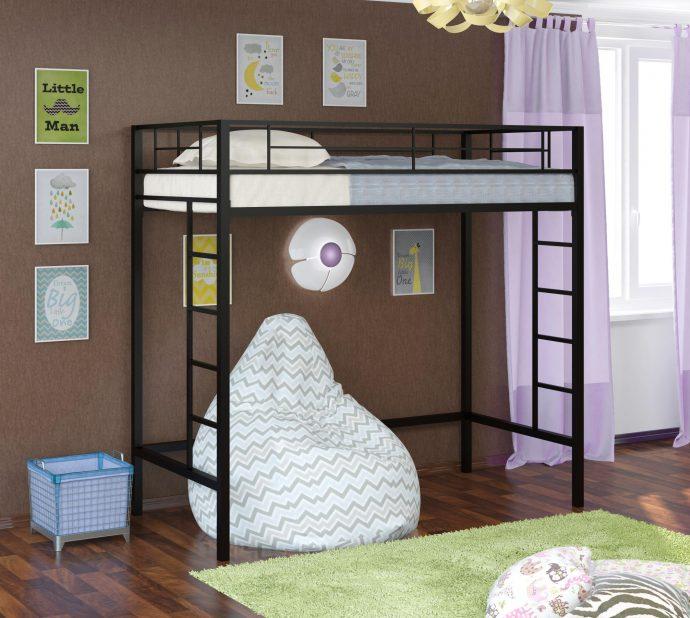 большая кровать детская чердак в детскую комнату фото дизайна