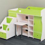 яркая детская кровать чердак в интерьере комнаты фото дизайна