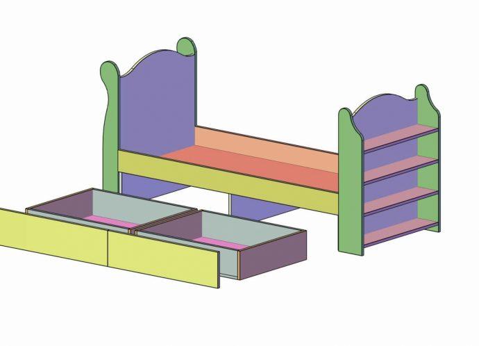 деревянная кровать детская из подручных материалов в интерьере