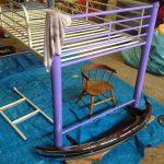 деревянная детская кровать сделанная своими руками в интерьере фото интерьера