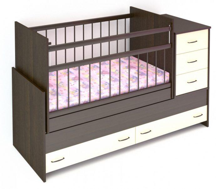 функциональная кроватка трансформер для детей