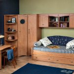 корпусная мебель для мальчика в детскую спальню дизайн