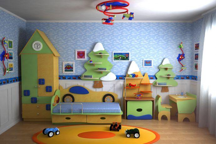 красивая детская мебель для мальчика в спальню дизайн