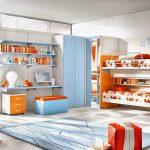 красивая функциональная мебель в детскую спальню для девочки фото дизайна