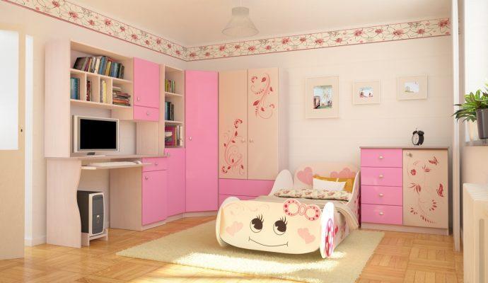 светлая мебель в детскую для девочки