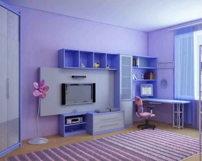 яркая мебель в детскую для девочки фото