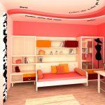 светлая детская спальня для девочек дизайн