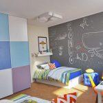 большая детская комната для двух мальчиков интерьер фото