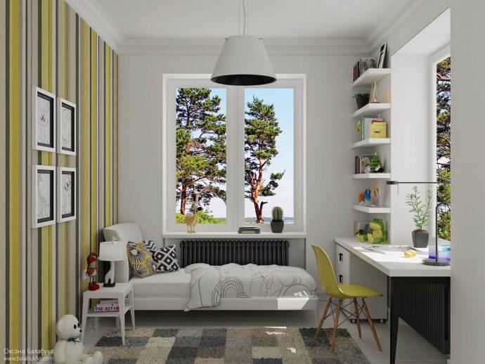 большая детская комната для двух мальчиков дизайн картинка