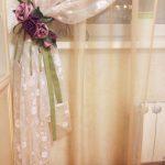 светлые шторы в спальню в интерьере фото