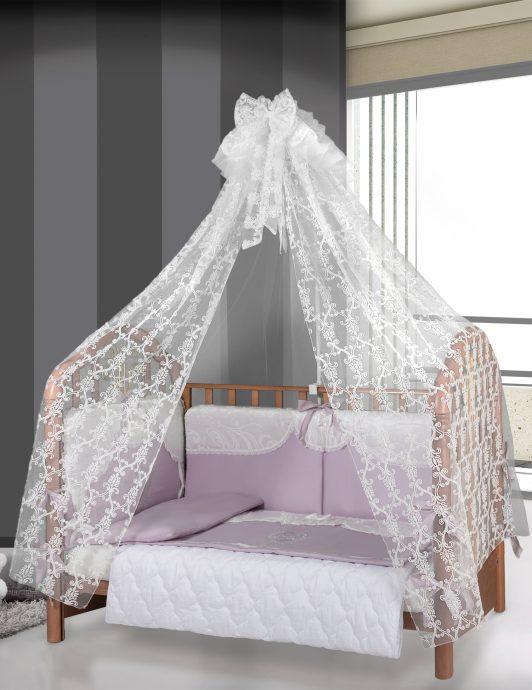 большой накидка на кроватку в интерьере
