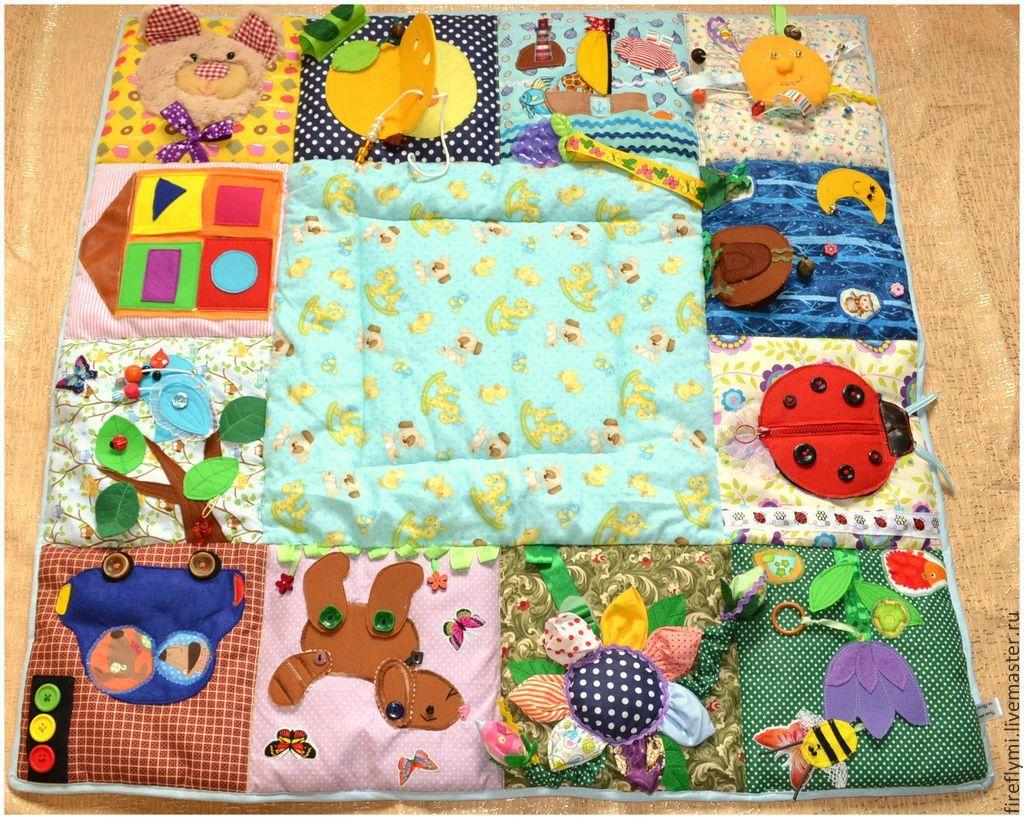Выкройка развивающий коврик для детей своими руками 6