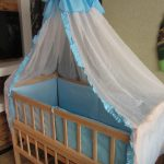 красивый балдахин на кроватку пример дизайна