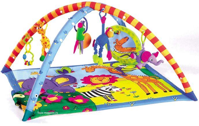 цветной детский коврик со зверьками фото
