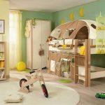 большая детская кровать с игровой зоной