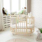 круглая деревянная кроватка