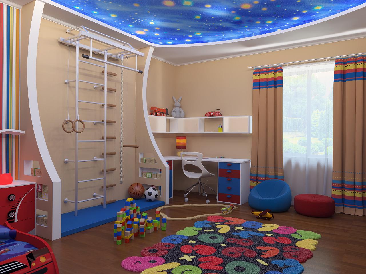 Детская комната для мальчика дизайн фото в 13