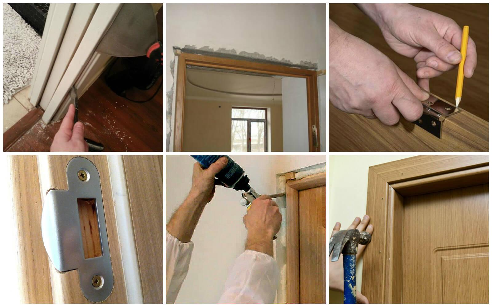 установка межкомнатных дверей пошаговая инструкция фото