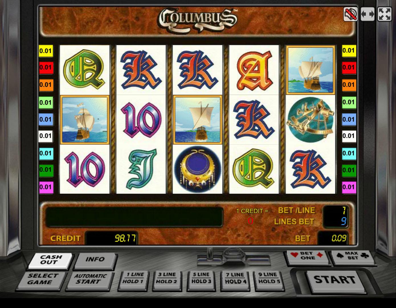 колумбус игровые автоматы официальный сайт