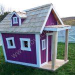 пример яркого домика из массива дерева