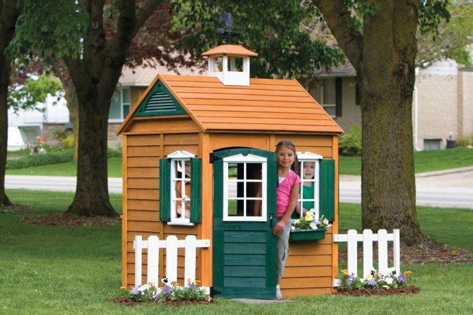 схема игрового домика из дерева во двор
