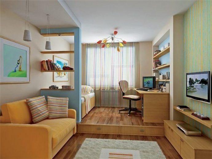 светлая детская комната для двоих мальчиков интерьер