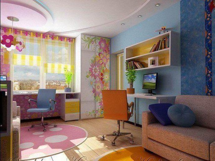 дизайн детской спальни для пары детей