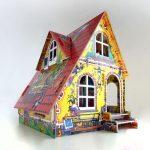 пример красивого игрового домика из дерева