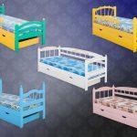 большая детская кровать с бортиками в комнате конструкция