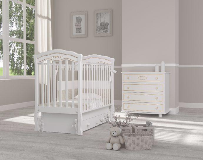 маленькая кроватка для ребенка маятник для мальчика