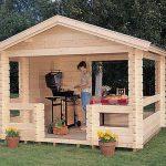 дизайн красивого домика из массива дерева