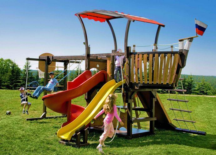 просторная площадка для детей готовая конструкция