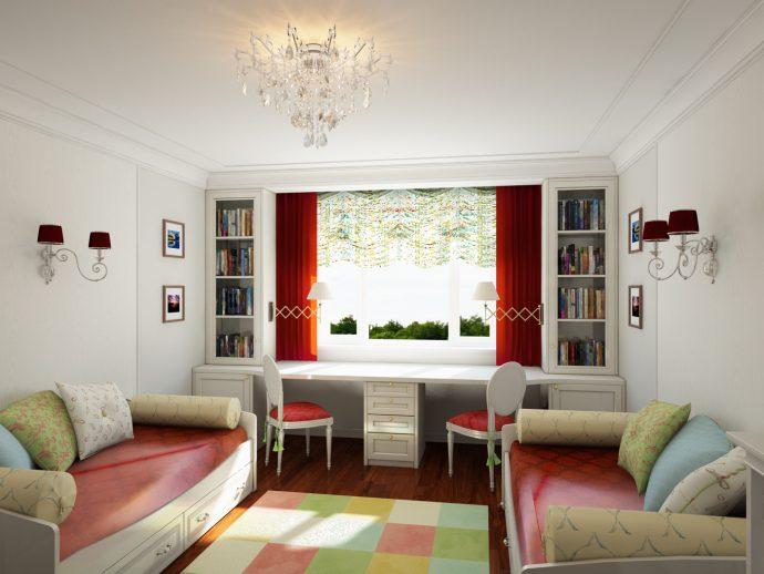 красивая детская комната для двоих мальчиков интерьер