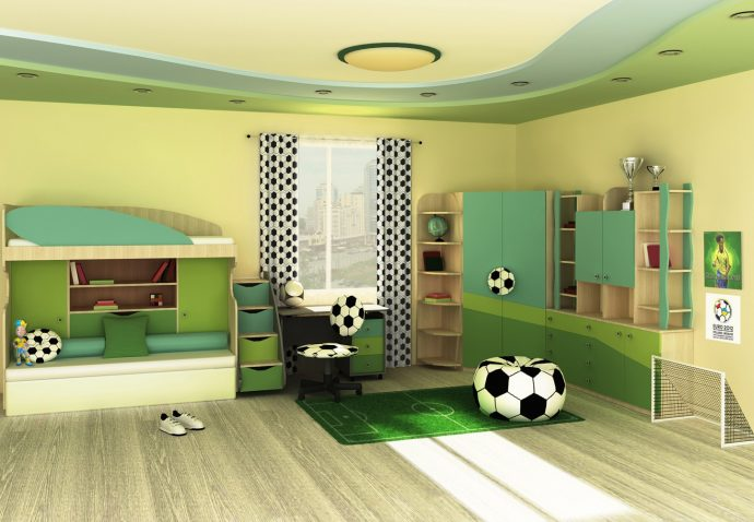 дизайнерская спальня для двоих мальчиков дизайн