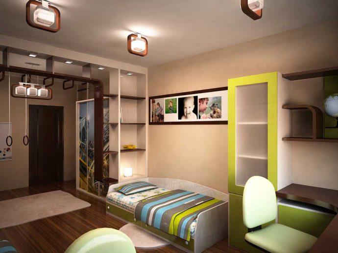 красивая спальня для двоих мальчиков интерьер